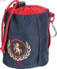 Treat bag, navy/red